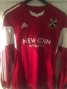 Pollok Red Away Kit 2016-18